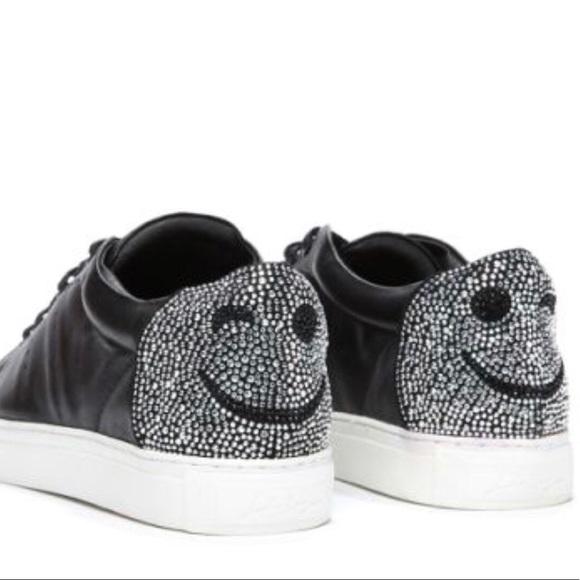 huge discount de435 6e252 NIB black Lola Cruz Leather Wink Sneakers NWT